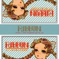 マッチラベルデザイン 「RIBBONシリーズ(水色)」