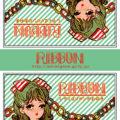 マッチラベルデザイン 「RIBBONシリーズ(緑)」