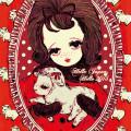 2015年賀カード 「羊と少女」